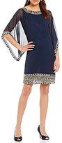 J Kara Beaded Sheath Dress