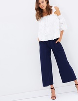 Heavy Crepe Patch Pocket Crop Trousers