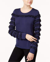 Maison Jules Ruffled-Trim Top, Created for Macy's