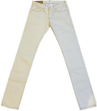 Helmut Lang Ecru Cotton Jeans