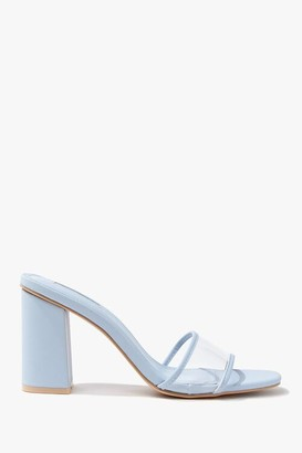 Forever 21 Transparent Faux Leather Block Heels