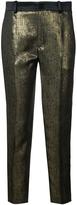 Lanvin Metallic Straight-Leg Trousers