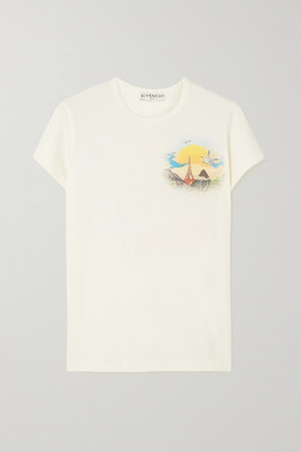 Givenchy Island Printed Cotton-jersey T-shirt - White