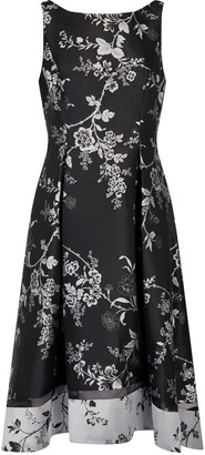 Adrianna Papell Floral Jacquard Cocktail Dress