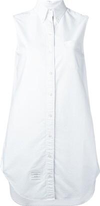 Thom Browne Sleeveless Shirt Tunic