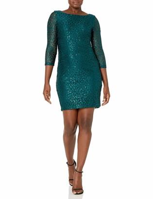 Unknown Jessica Howard Women's Long Sleeve SLACE T-Body Shift Dress