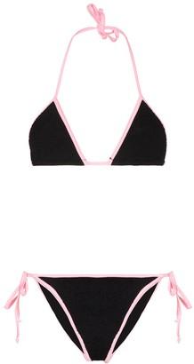 Hunza G Carmen ribbed bikini set