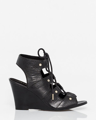 Le Château Leather Ghillie Tie Wedge Shootie