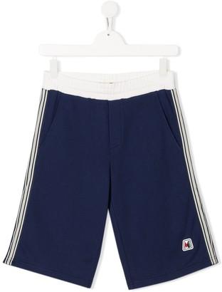 Moncler appliqué stripe causal shorts