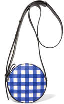 Diane von Furstenberg Circle Gingham Leather Shoulder Bag - Blue