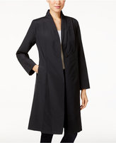 Eileen Fisher Stand-Collar One-Button Coat