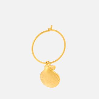 Anni Lu Women's Shell Hoop Earring - Gold