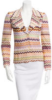 Missoni Chevron Notch-Lapel Blazer