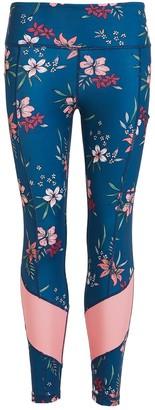 Perky Peach Floral Leggings
