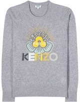 Kenzo Knitted Wool Sweater With Appliqué