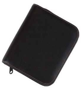 Royce Leather Royce Zippered Travel Jewelry Case in Genuine Leather
