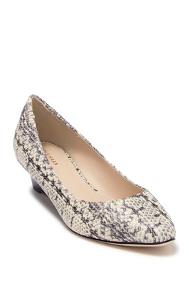 Cole Haan Kathryn Snake Print Wedge Pump