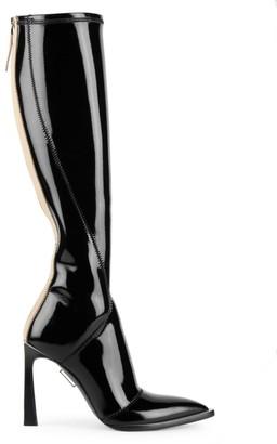 Fendi Patent Neoprene Tall Boots