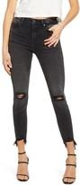 Vigoss Ace Ripped High Waist Crop Skinny Jeans