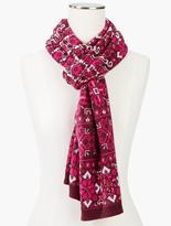Talbots Medallion Fair Isle Scarf