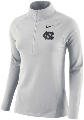Nike Women's White North Carolina Tar Heels Element Core Half-Zip Pullover Performance Jacket