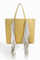 Sara Battaglia Ruffled Trim Shopper Bag