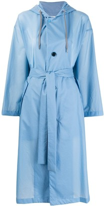 Zucca Hooded Trench Coat