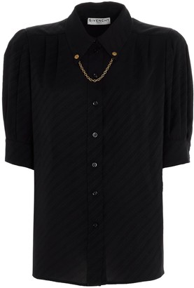Givenchy Chain Short-Sleeve Shirt