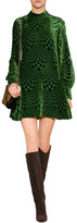 Anna Sui Burnout Velvet Dress