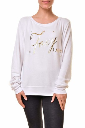 Wildfox Couture Women's WVV61354U Foxy Lady Baggy Sweatshirt White Size M