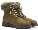 Aquazzura The Heilbrunner Fur-trimmed Suede Boots