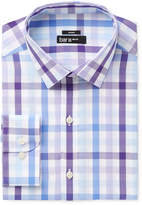 Bar III Men's Slim-Fit Stretch Easy Care Purple Bold Multi Gingham Dress Shirt, Only at Macy's