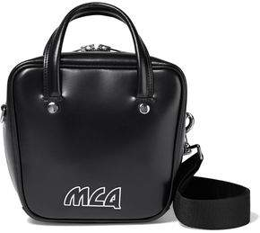 McQ Ivy Small Logo-appliqued Glossed-leather Shoulder Bag