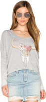 Chaser Floral Cow Skull Tee