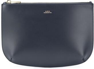 A.P.C. Sarah leather clutch