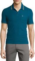 Original Penguin Contrast-Trim Cotton Polo Shirt, Blue