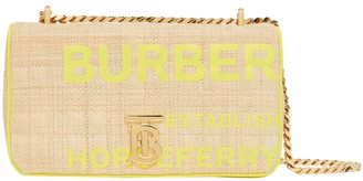 Burberry Small Fluorescent Yellow Horseferry Lola Bag