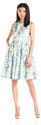 Helene Berman Women's Printed Lace Sleeveless Dress