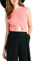 KENDALL + KYLIE Seamed Cutout Crop Top