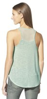 Junior's Knit to Woven Tank