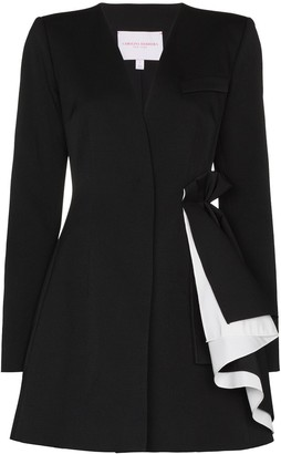 Carolina Herrera Draped-Detail Blazer-Style Mini Dress