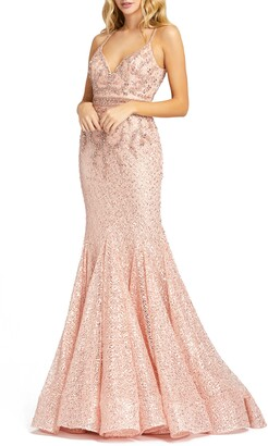 Mac Duggal Sequin Lace Trumpet Gown