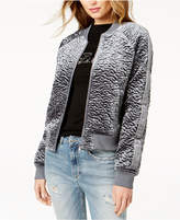 GUESS Charlee Textured Bomber Jacket
