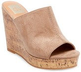 dv Women's dv Justine Cork Wedge Slide Sandals