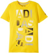 "adidas 30'S Tee ""Block Type"" (Kid) - Yellow / Black-Small"