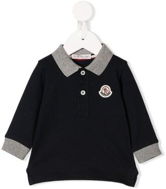 Moncler Enfant Long Sleeve Polo Top