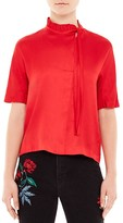 Sandro Angie Ruffle-Trimmed Top