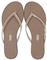 TKEES Flip-Flop-Duos (Oyster Shell) Women's Toe Open Shoes