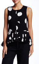 Gracia Polka Dot Print Sleeveless Blouse