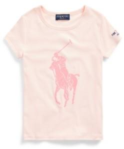 Polo Ralph Lauren Big Girls Pink Pony Graphic Tee
